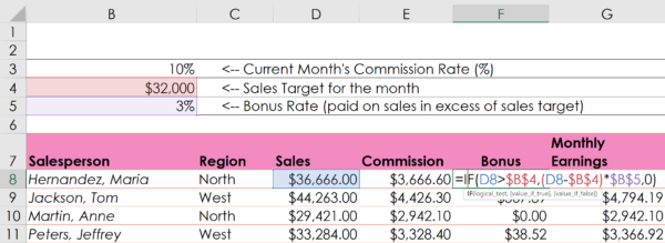 Excel Spreadsheet IF Function